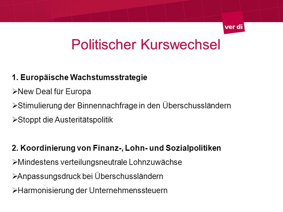 Politischer Kurswechsel 1.