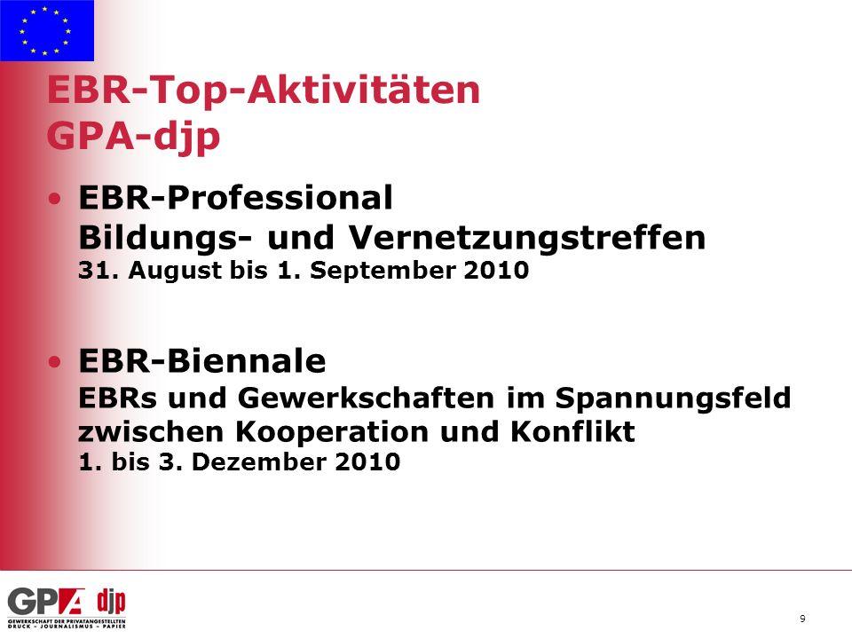 9 EBR-Top-Aktivitäten GPA-djp EBR-Professional Bildungs- und Vernetzungstreffen 31.