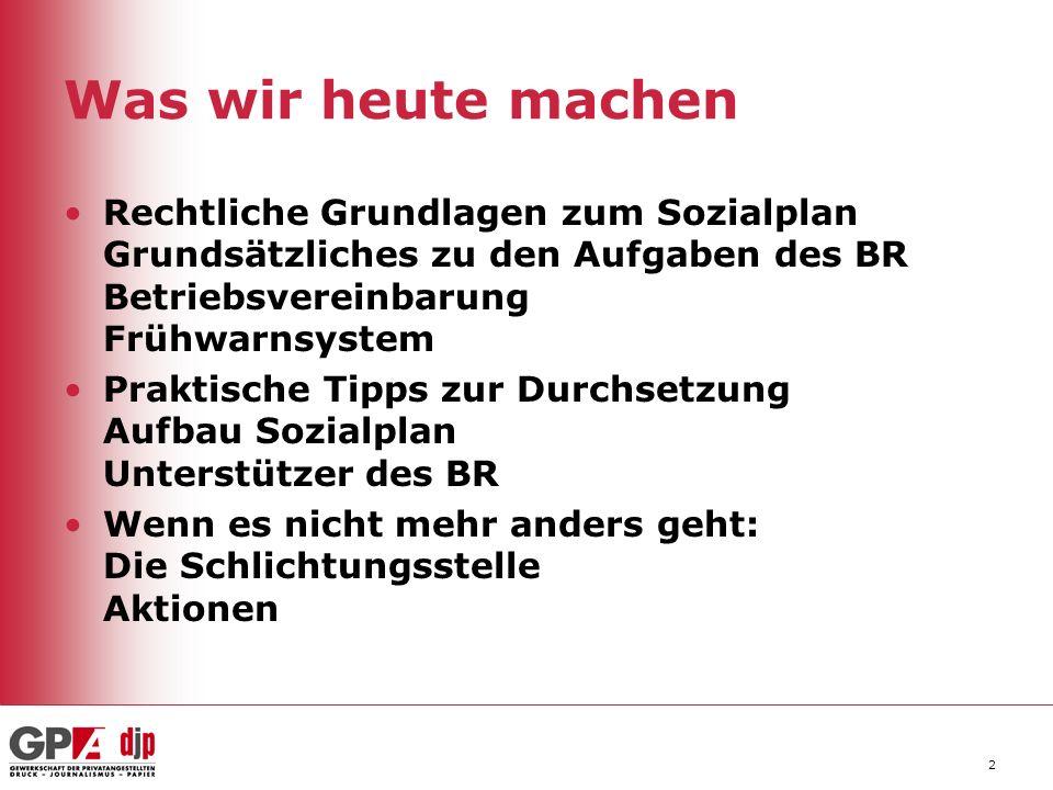 3 Inhalte des Sozialplans Alternativen zur Kündigung wie z.B.