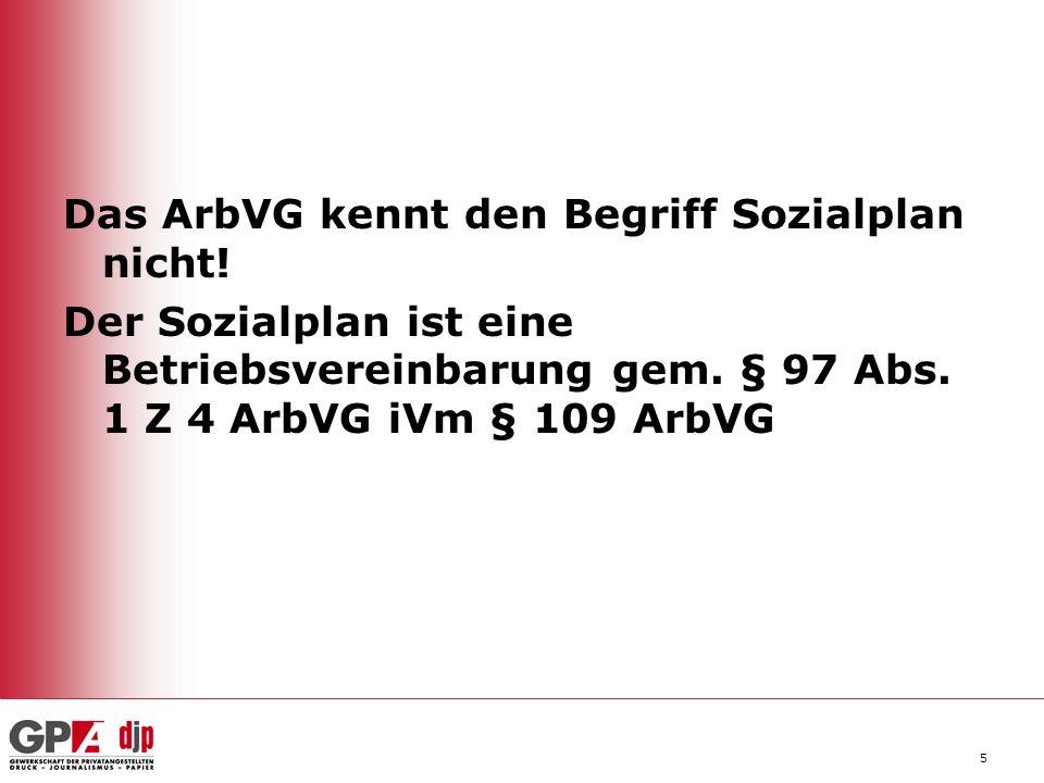 16 Erzwingbare BV § 97 Abs 1 Z 1 bis 6 a ArbVG: Existiert keine BV, können die Inhalte auch durch Einzel- vertrag oder Weisung geregelt werden.