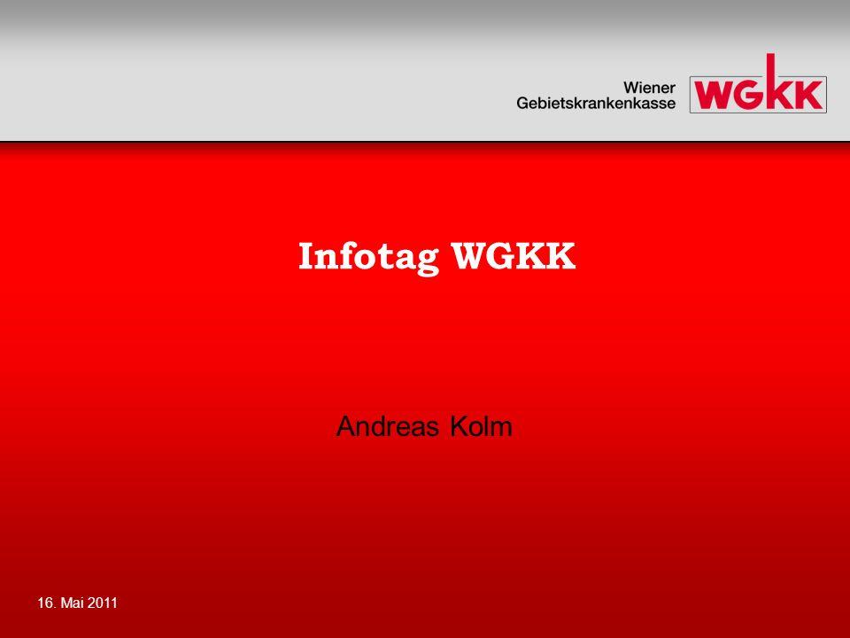 16. Mai 2011 Infotag WGKK Andreas Kolm