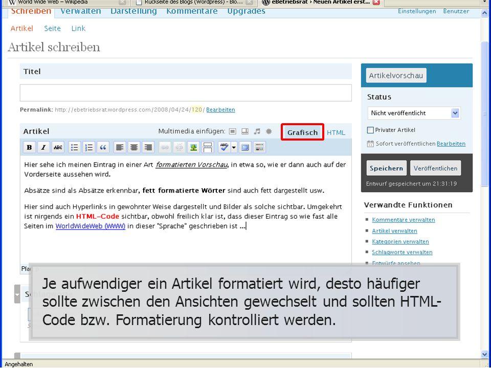 der Permalink wird auch ohne Dein zutun generiert und setzt sich zusammen aus der: Domain, den Unterordnern für Jahr, Monat und Tag, sowie aus dem Titel des BlogEintrags.