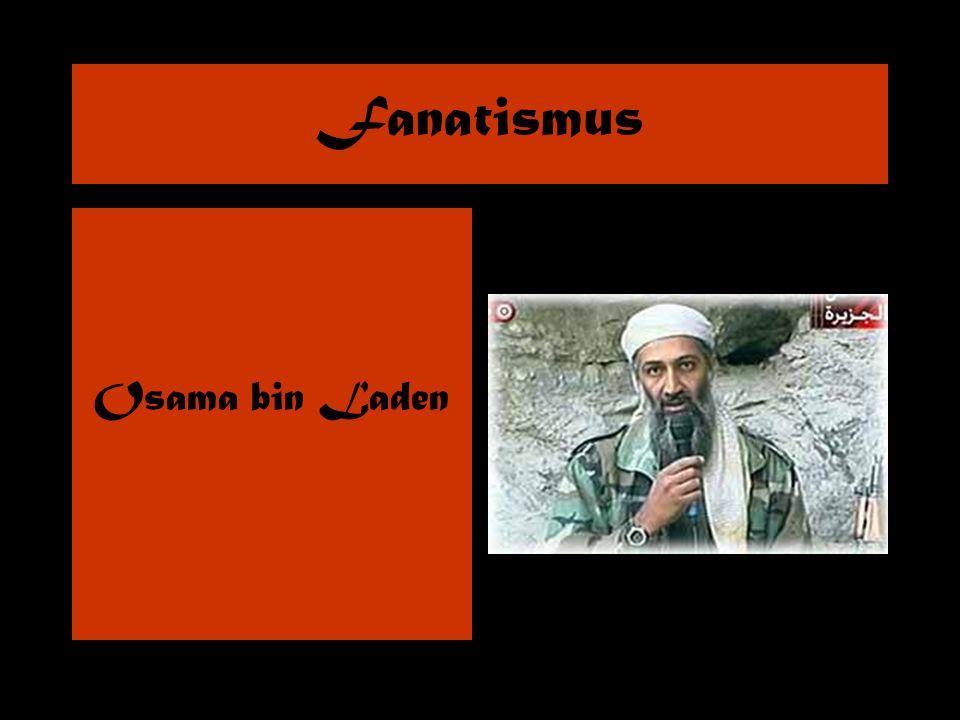 Fanatismus Osama bin Laden