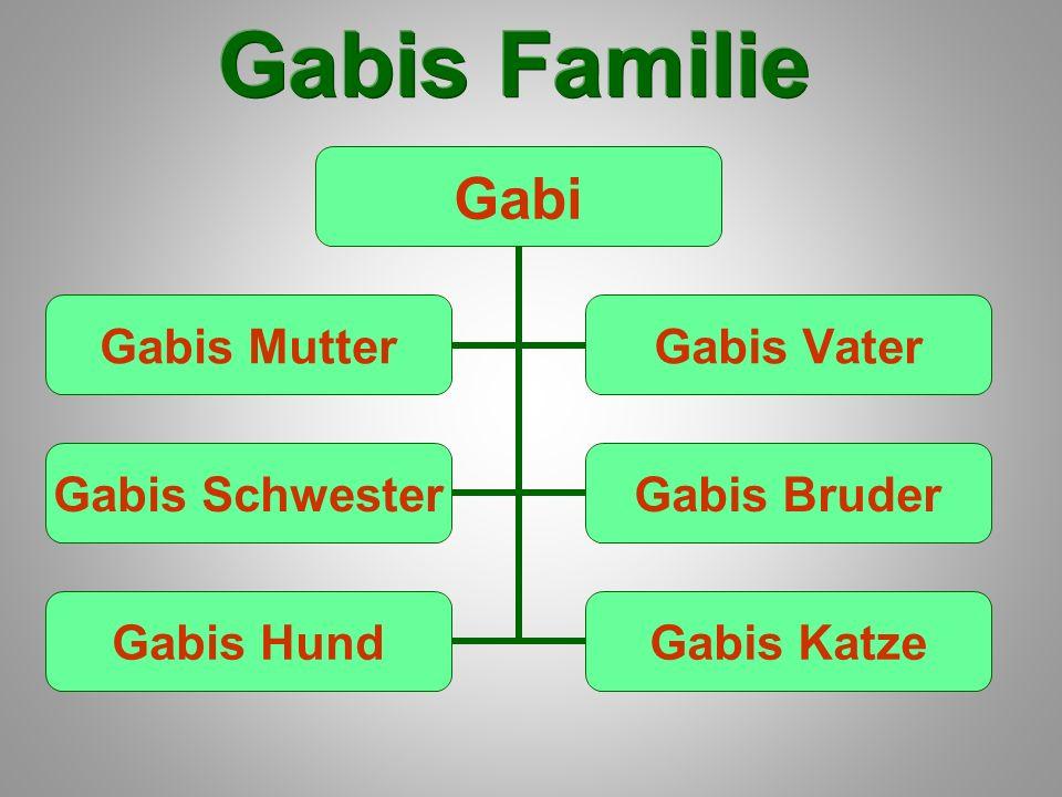 Gabi Gabis Schwester Gabis Bruder Gabis Hund Gabis Katze Gabis Mutter Gabis Vater