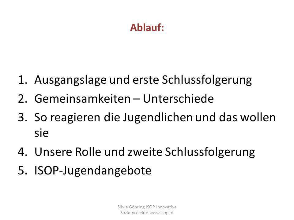 Wie Migrantenjugendliche oft beschrieben werden und was auch oft der Realität entspricht: Silvia Göhring - ISOP - www.isop.at