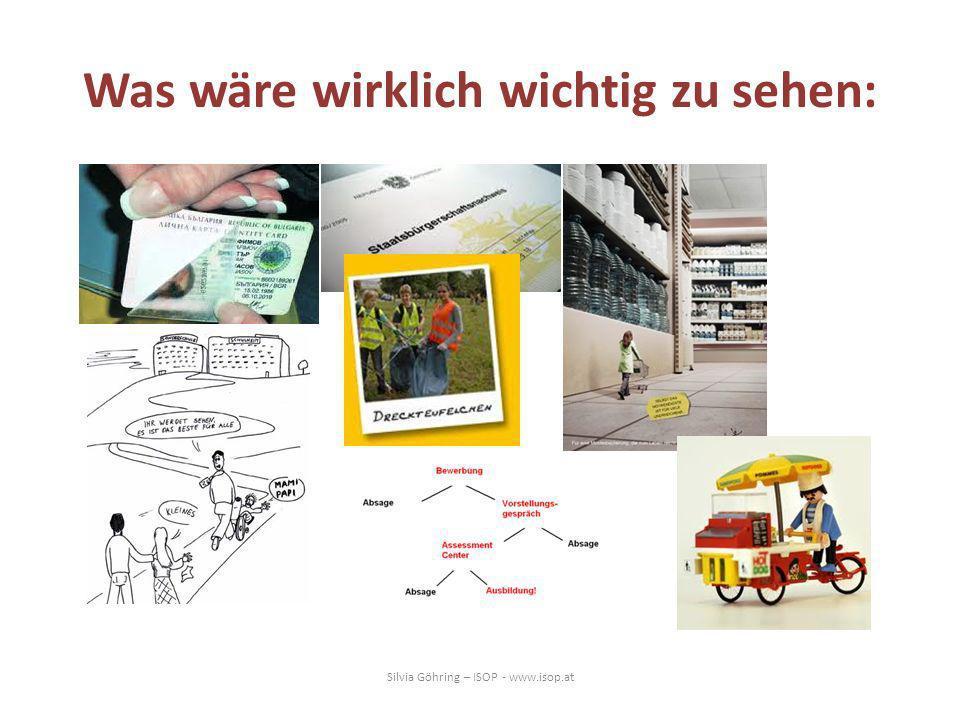 Was wäre wirklich wichtig zu sehen: Silvia Göhring – ISOP - www.isop.at