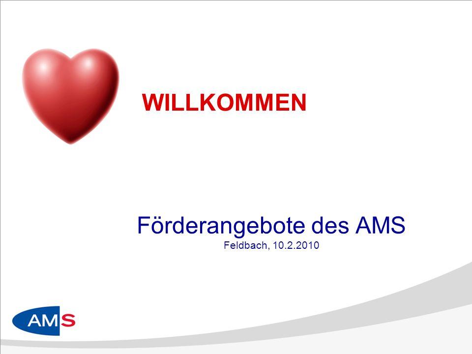 WILLKOMMEN Förderangebote des AMS Feldbach, 10.2.2010