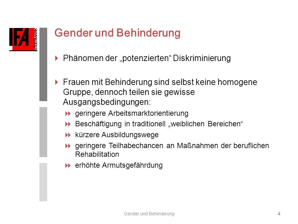 Gender und Behinderung5 Arbeitsmarktsituation