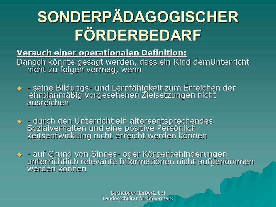 Buchebner Herbert, LSI Landesschulrat für Steiermark SchUG § 11 Abs.6 SchUG § 11 Abs.6 Auf Ansuchen des Schülers oder von Amts wegen hat der Schulleiter einen Schüler von der Teilnahme an einzelnen Pflichtgegenständen zu befreien, wenn dieser aus gesundheitlichen Gründen daran nicht teilnehmen kann.