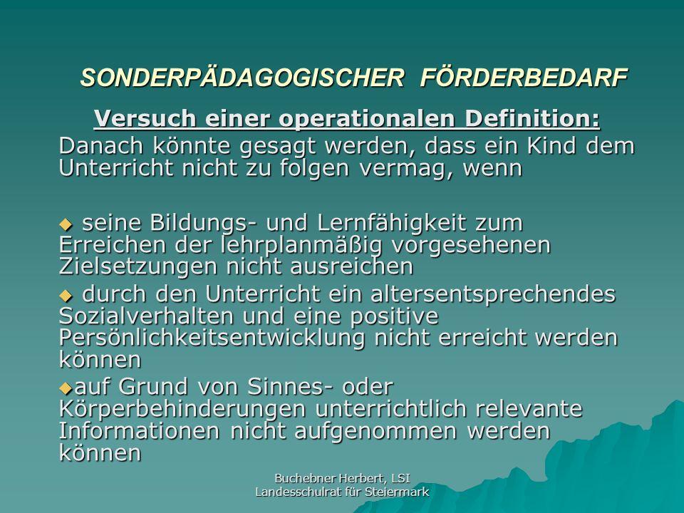 Buchebner Herbert, LSI Landesschulrat für Steiermark SchUG § 18 Abs.