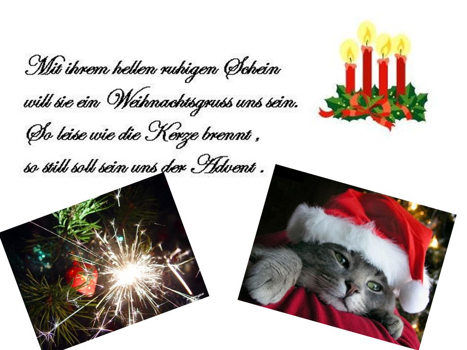 Hallo Anita .In der Slowakei beginnt Weihnachten am 24.Dezember.