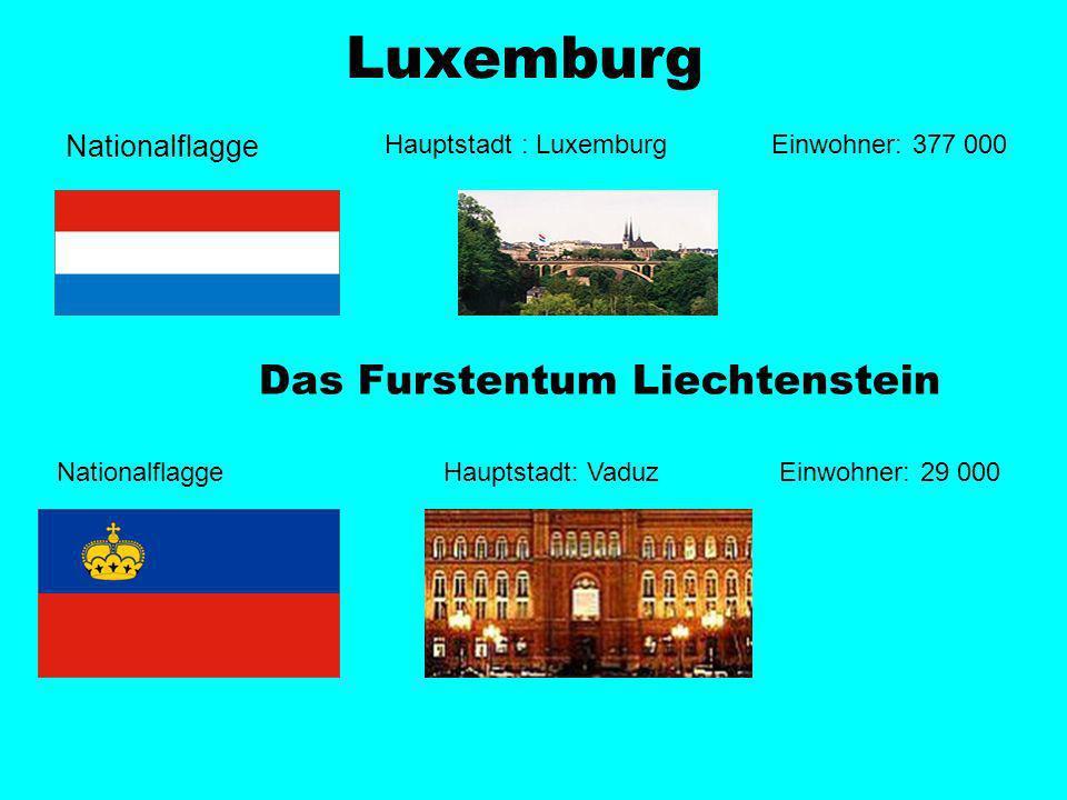 Nationalflagge Hauptstadt: Bern Einwohner: 7 000 000 Die Schweiz