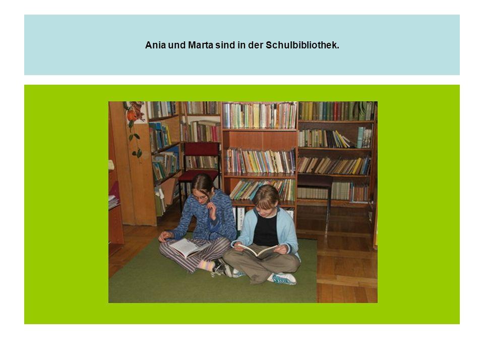 Ania und Marta sind in der Schulbibliothek.