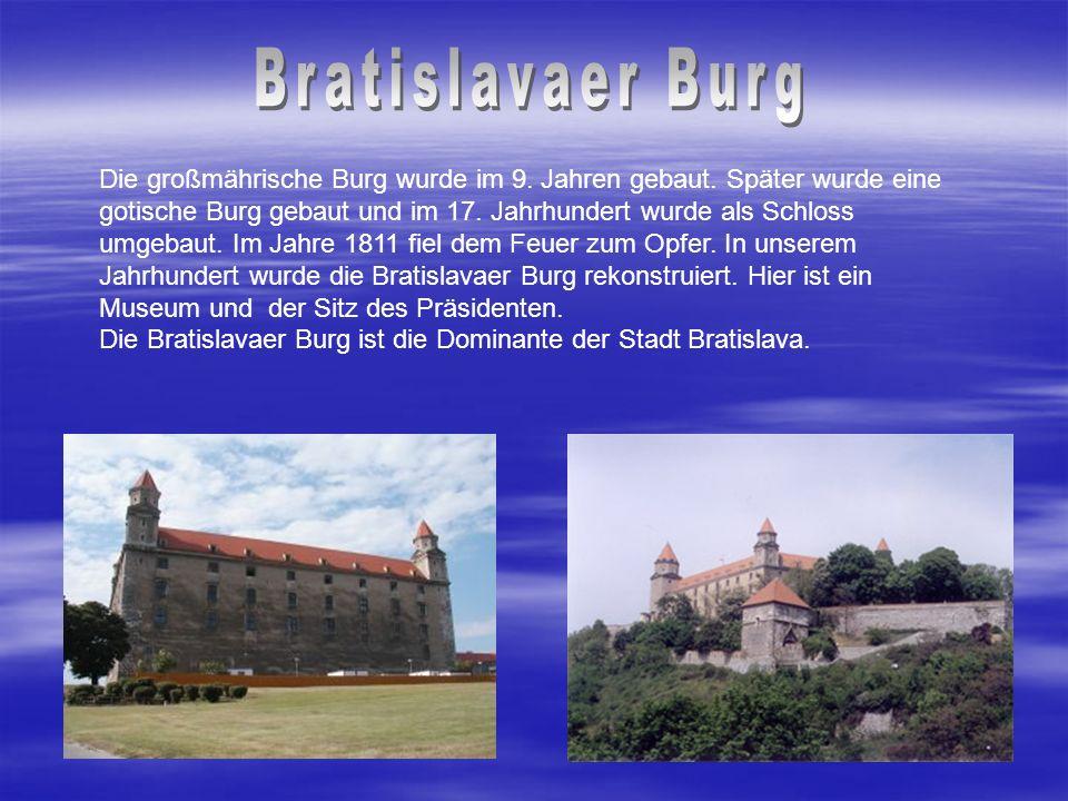 Bratislava wurde zuerst Braslavespurch, später Pressburg, slowakisch Prešporok genannt.