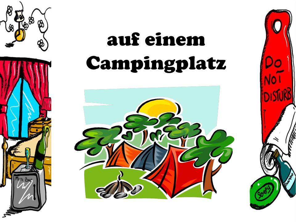 auf einem Campingplatz