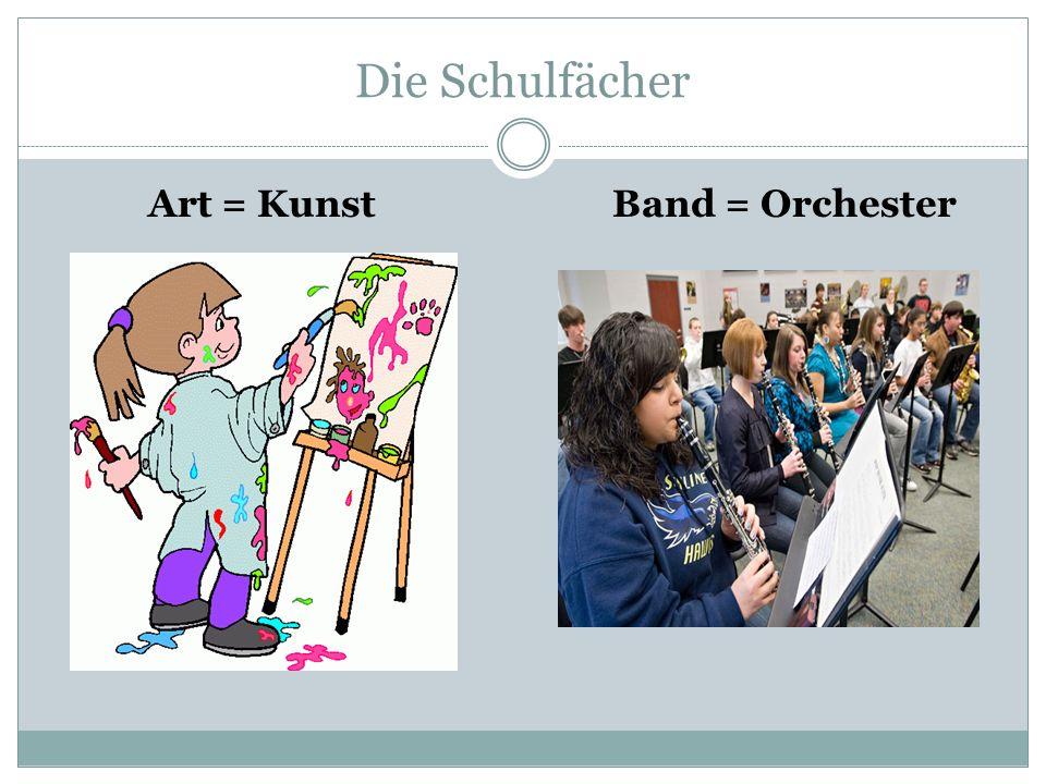 Die Schulfächer Art = KunstBand = Orchester