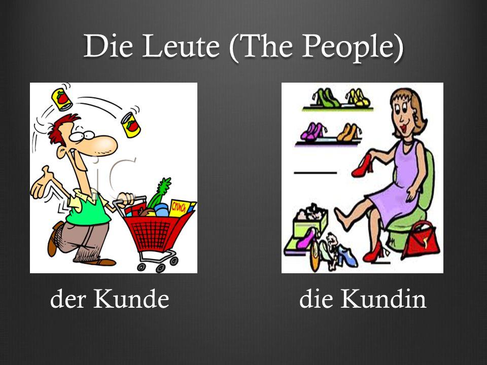 Die Leute (The People) der Kundedie Kundin