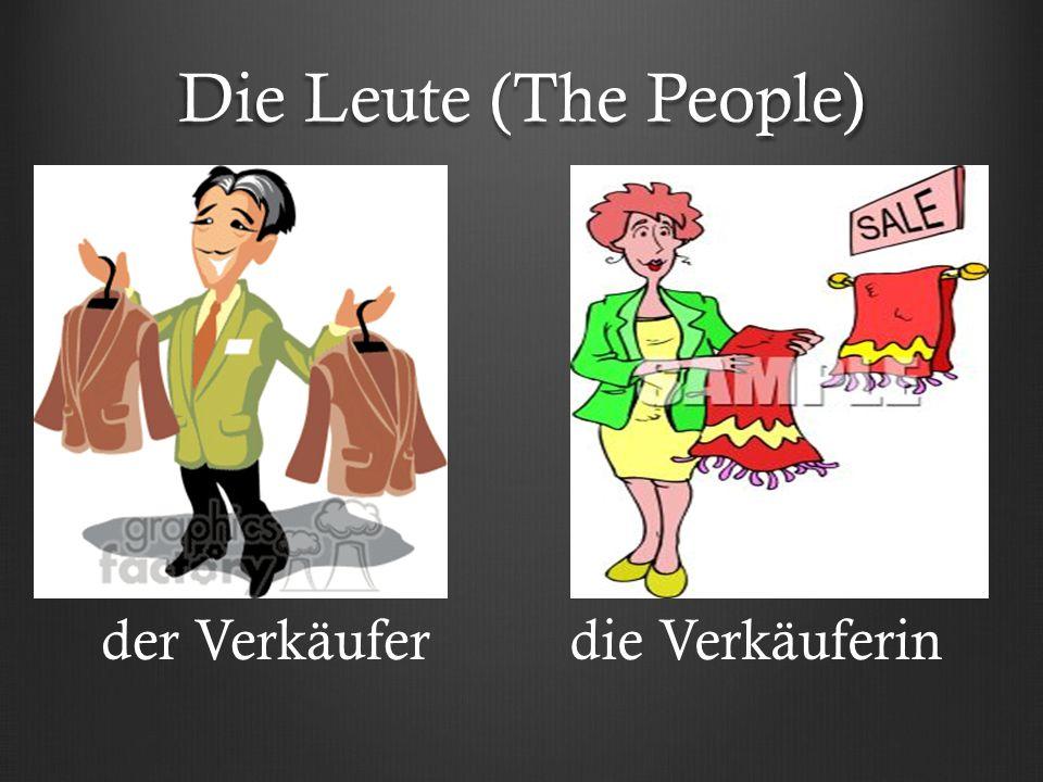 Die Leute (The People) der Verkäuferdie Verkäuferin