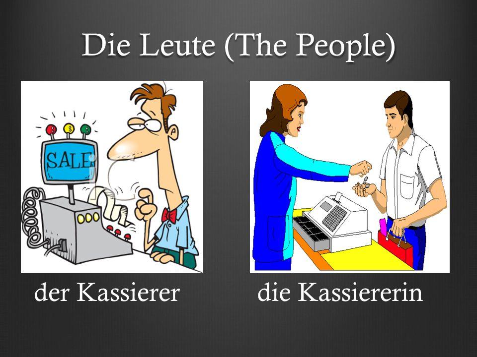 Die Leute (The People) der Kassiererdie Kassiererin