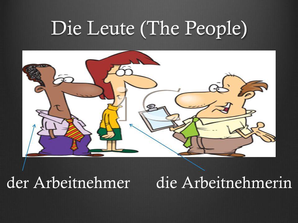 Die Leute (The People) der Arbeitnehmerdie Arbeitnehmerin