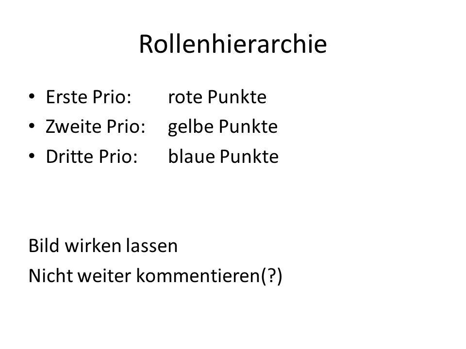 Rollenhierarchie Erste Prio: rote Punkte Zweite Prio:gelbe Punkte Dritte Prio:blaue Punkte Bild wirken lassen Nicht weiter kommentieren( )