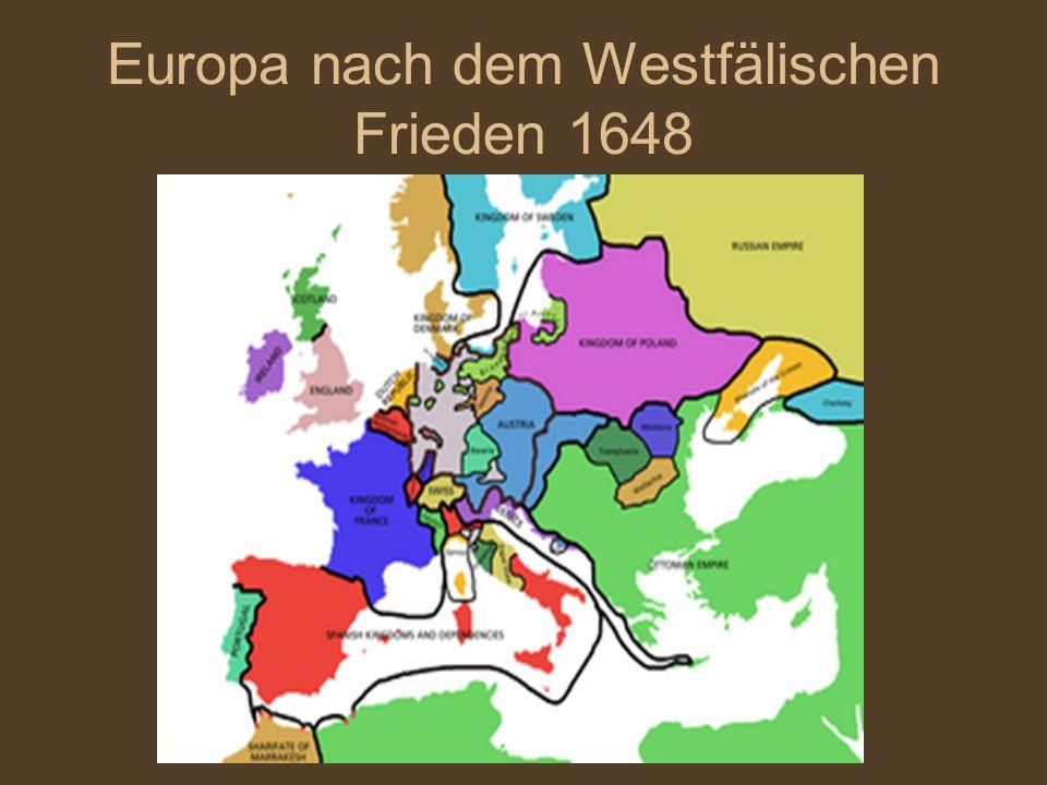 Holland wird unabhängig Das Reich ist sehr schwach Fürsten werden mächtiger Die Bevölkerung ist fleiβig, fromm (pious) und arm Frankreich wird mächtiger Das Reich hat einen groβen Erfolg: es vertreibt die Türken aus Ungarn