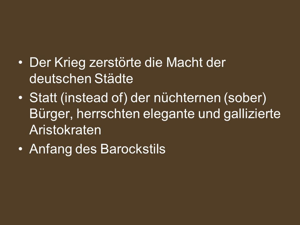 Grimmelshausen (1622-1676) Simplicius Simplicissimus (1669) Der gröβte Schelmenroman (picaresque novel) des 17.