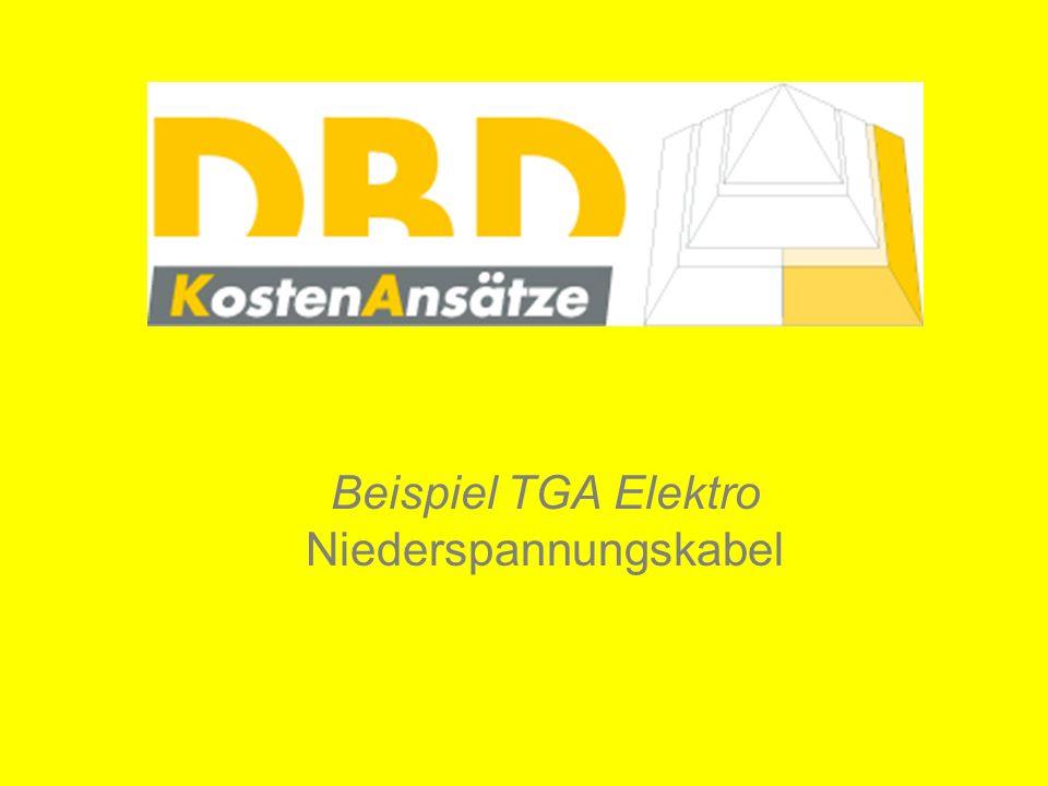 Beispiel TGA Elektro Niederspannungskabel
