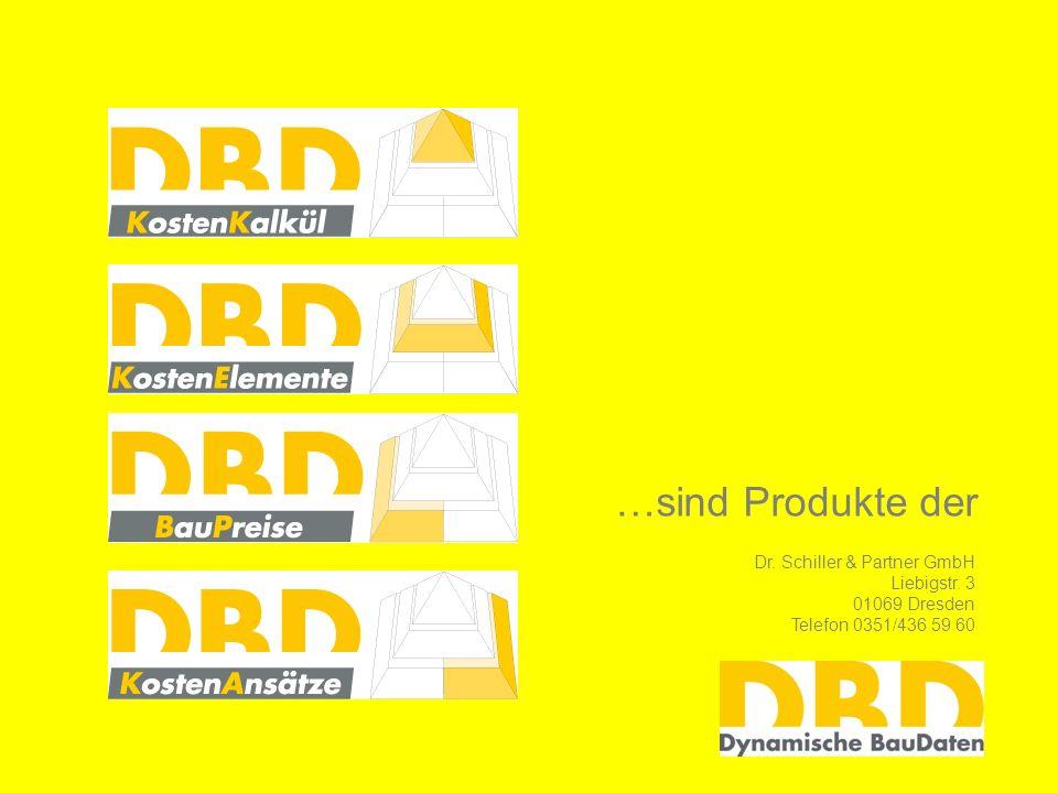 …sind Produkte der Dr. Schiller & Partner GmbH Liebigstr. 3 01069 Dresden Telefon 0351/436 59 60