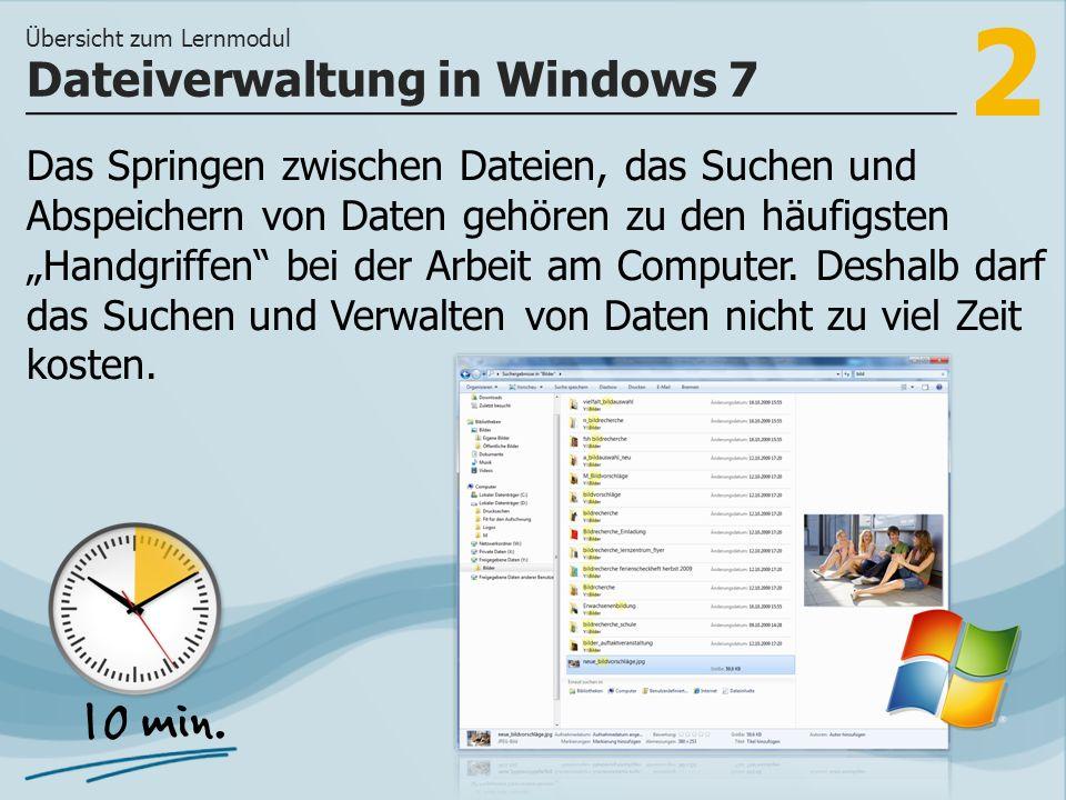2 Das Springen zwischen Dateien, das Suchen und Abspeichern von Daten gehören zu den häufigsten Handgriffen bei der Arbeit am Computer.
