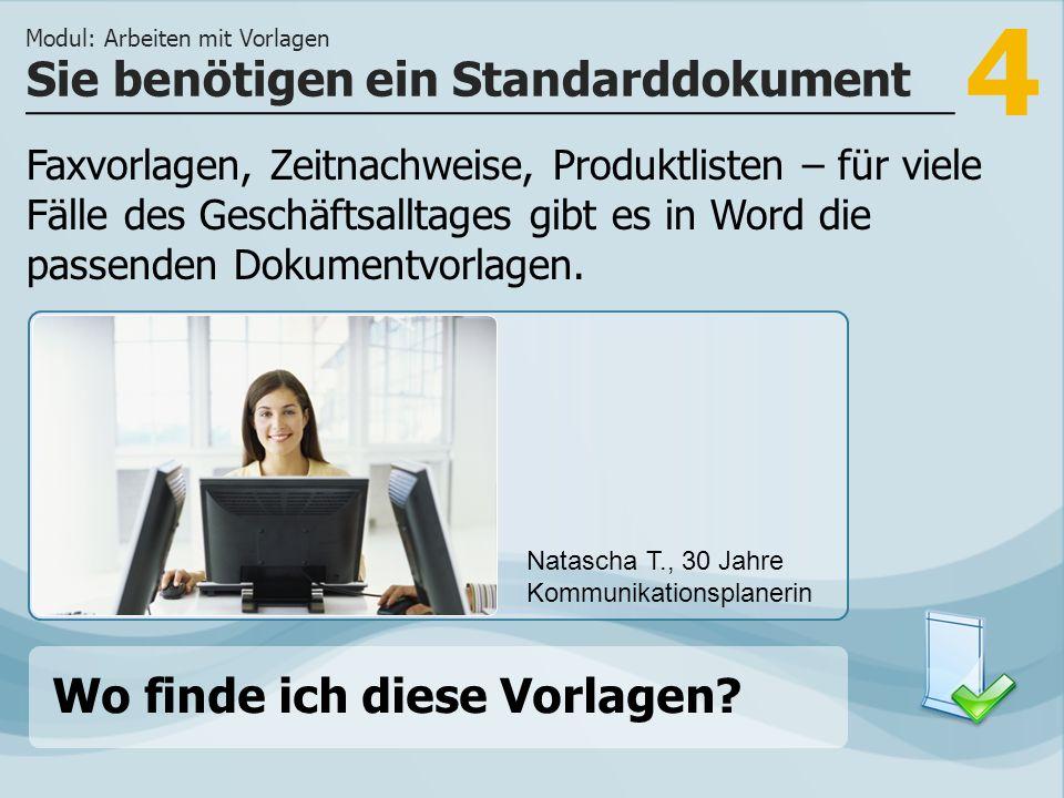 4 Faxvorlagen, Zeitnachweise, Produktlisten – für viele Fälle des Geschäftsalltages gibt es in Word die passenden Dokumentvorlagen.