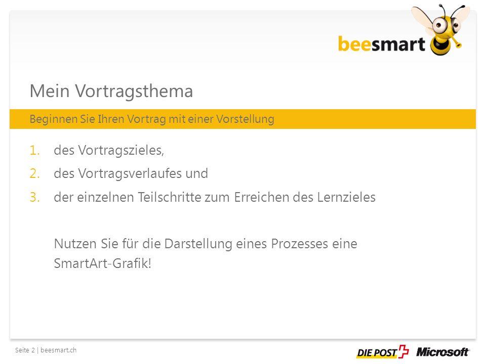 Seite 3 | beesmart.ch Vortragsverlauf 1.