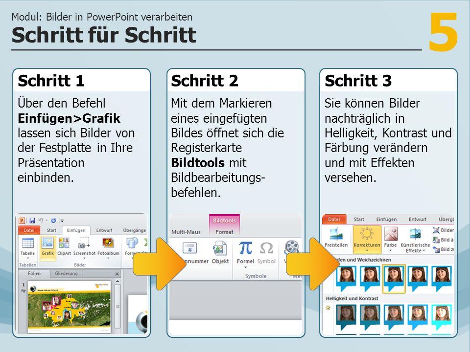 6 Bilder und Infografiken dienen der Vermittlung von Informationen und der Gestaltung einer Präsentation.