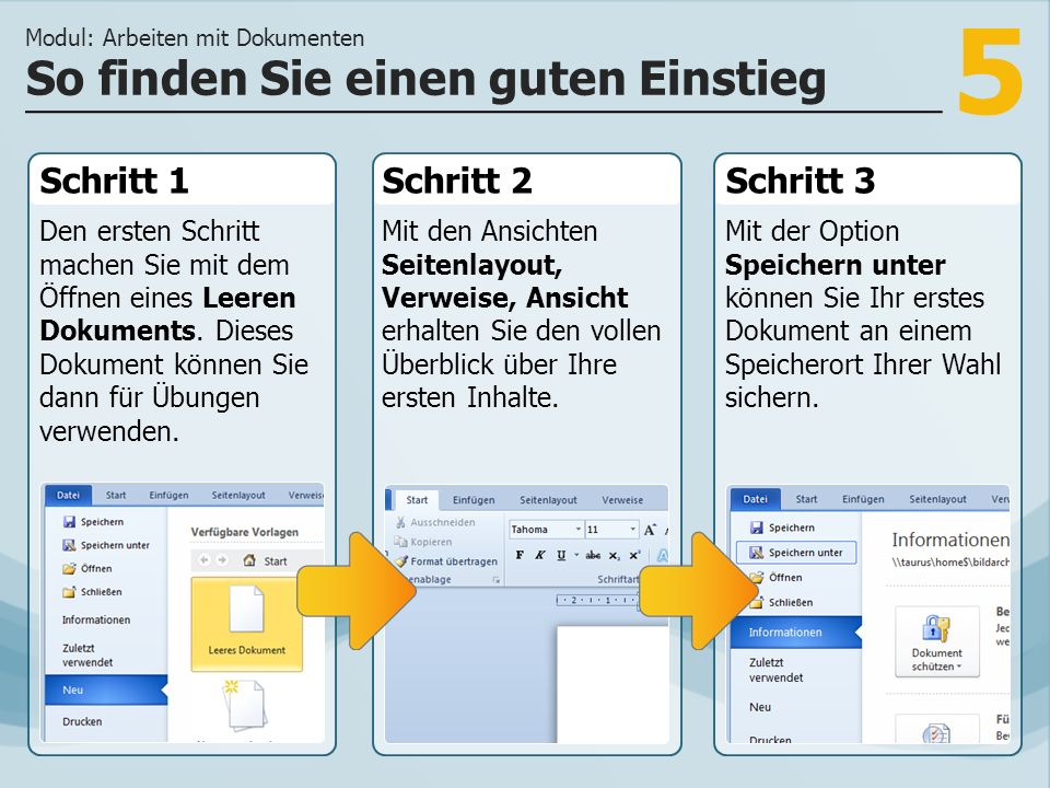 5 Schritt 1 Den ersten Schritt machen Sie mit dem Öffnen eines Leeren Dokuments.