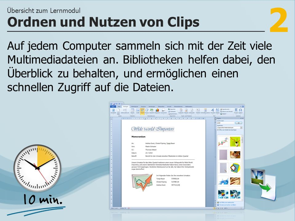 2 Auf jedem Computer sammeln sich mit der Zeit viele Multimediadateien an.