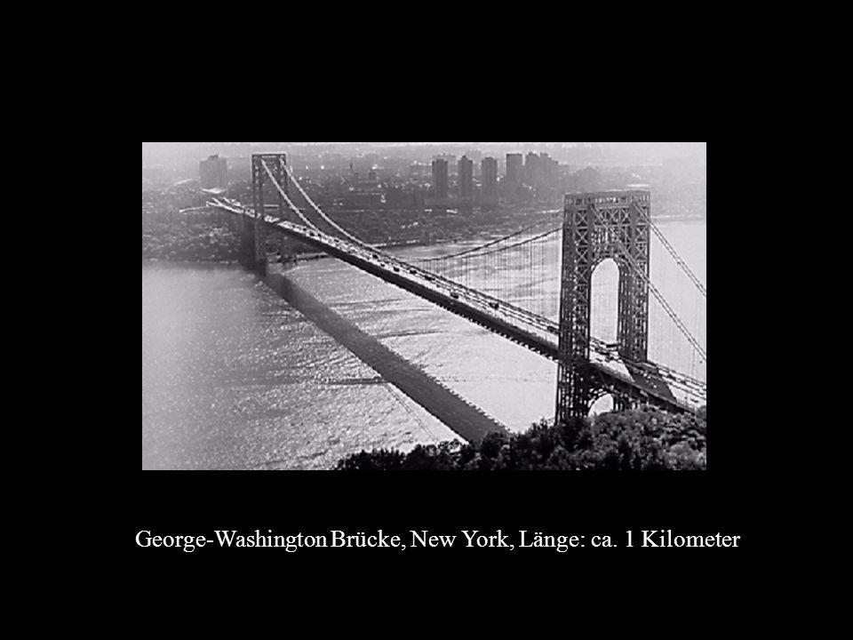 George-Washington Brücke, New York, Länge: ca. 1 Kilometer