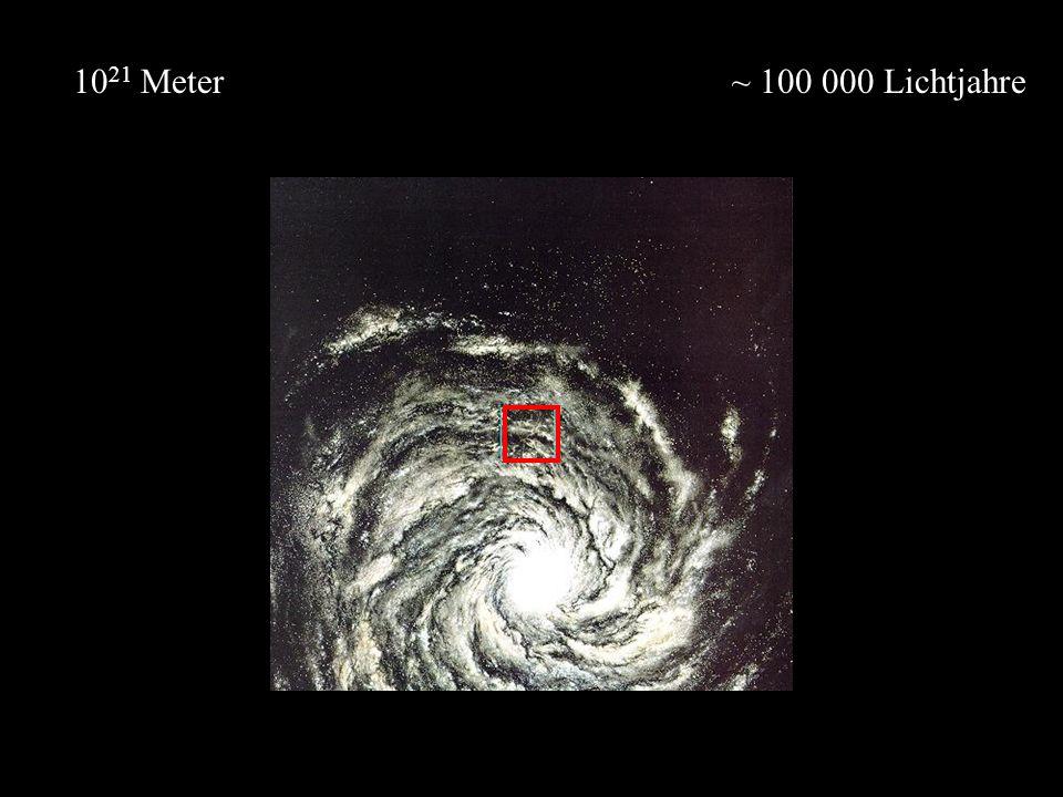 ~ 100 000 Lichtjahre10 21 Meter