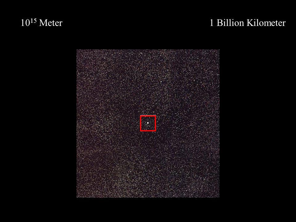 1 Billion Kilometer10 15 Meter