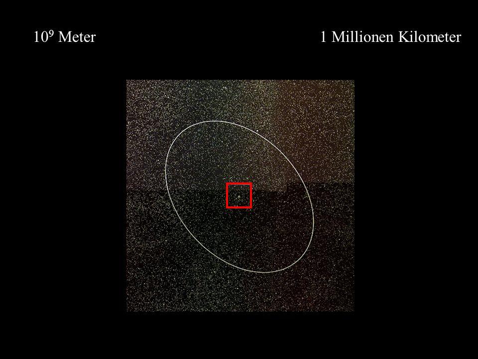 1 Millionen Kilometer10 9 Meter