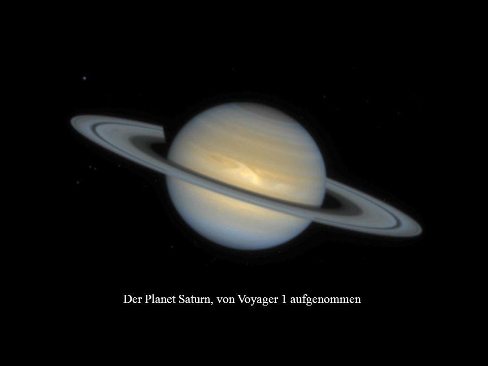 Der Planet Saturn, von Voyager 1 aufgenommen