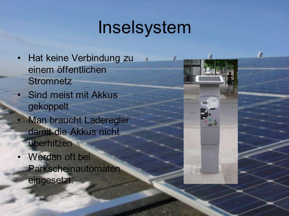 Hybridanlage Es werden z.B.: Eine Photovoltaikanlage und eine Windkraftanlage kombiniert