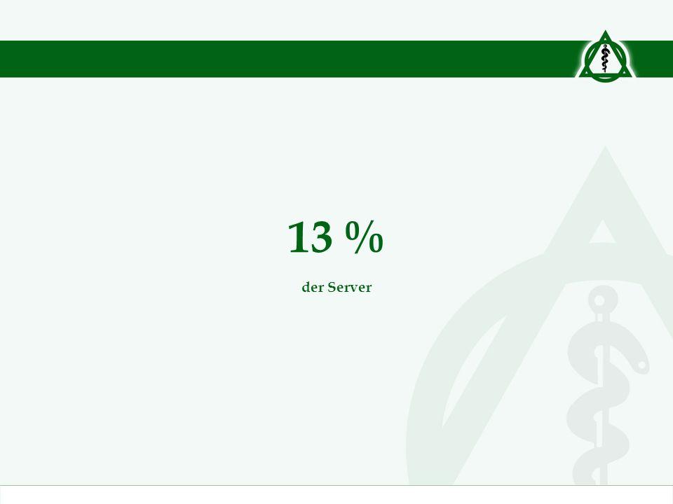 13 % der Server