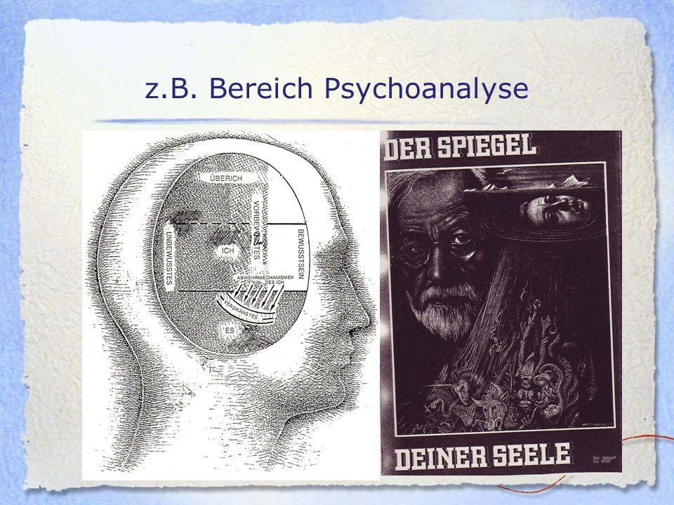 z.B. Bereich Psychoanalyse