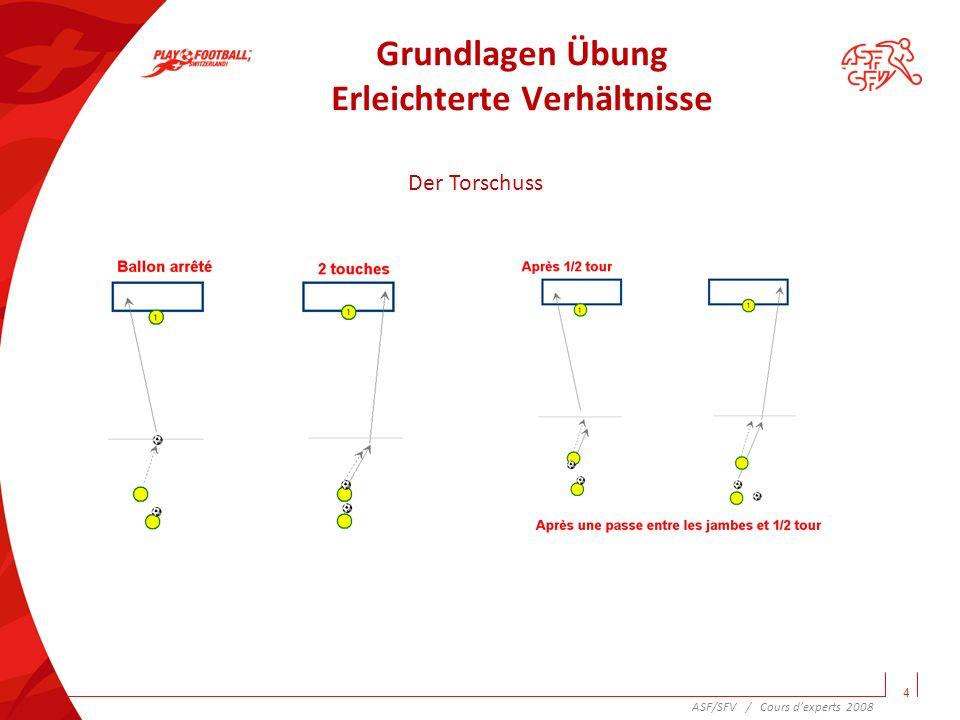 Komplexe Übung Variationen 5 Das Zuspiel ASF/SFV / Cours dexperts 2008