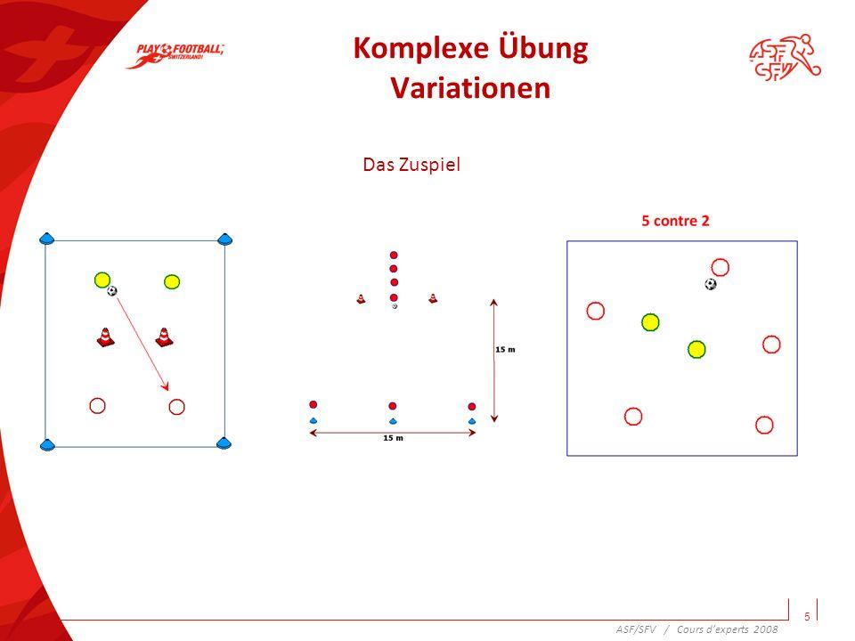 Komplexe Übung Variationen 6 Der Torschuss ASF/SFV / Cours dexperts 2008