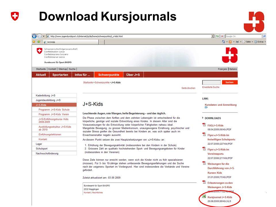 4 Bundesamt für Sport Jugend+Sport Download Kursjournals
