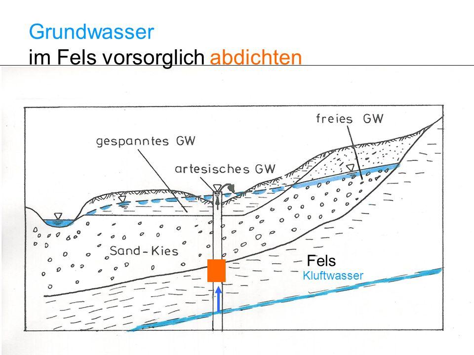 Fels Kluftwasser Grundwasser im Fels vorsorglich abdichten