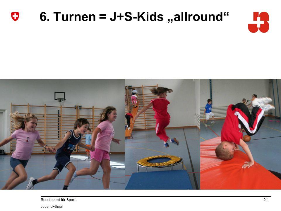 21 Bundesamt für Sport Jugend+Sport 6. Turnen = J+S-Kids allround