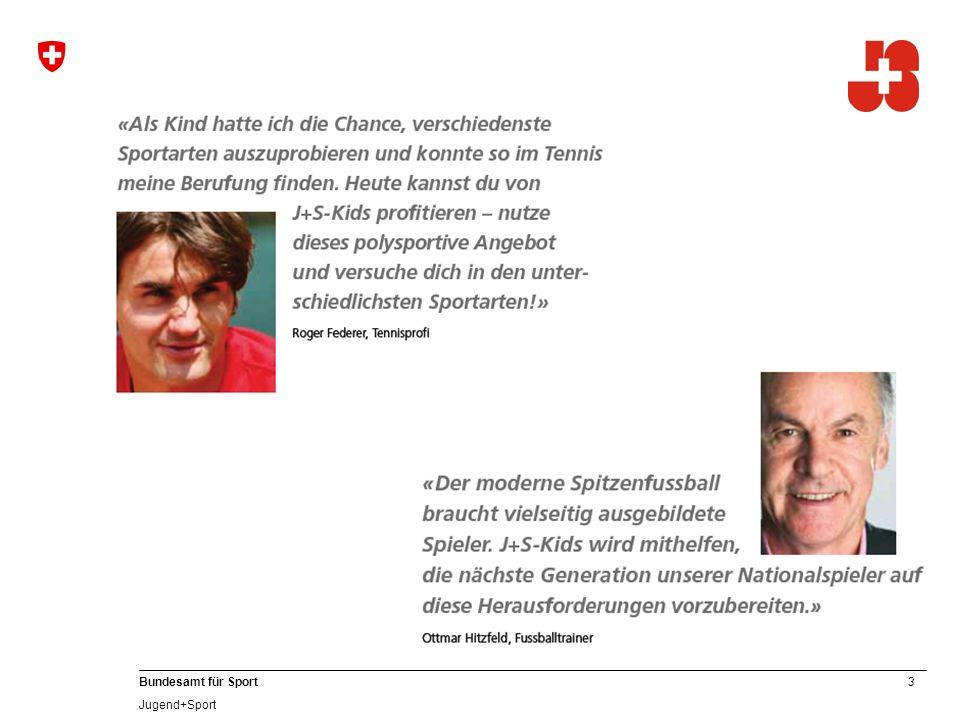24 Bundesamt für Sport Jugend+Sport 7. Weisungen der J+S-Kurse Kids