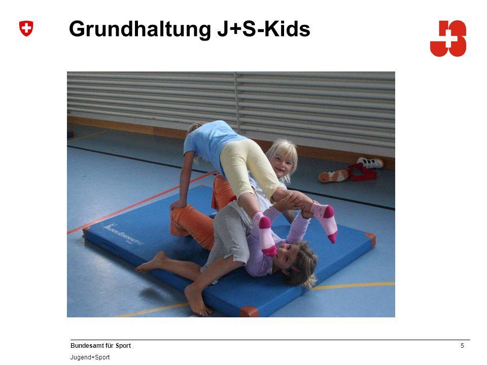 16 Bundesamt für Sport Jugend+Sport Umgebungswechsel Die Wichtigkeit des Umgebungswechsels wird in der Ausbildung aufgezeigt und die J+S-Leitenden Kids aufgefordert, diesen in ihren Kursen umzusetzen.
